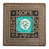Handcrafted Ceramic Coaster | Faith - Hope - Love