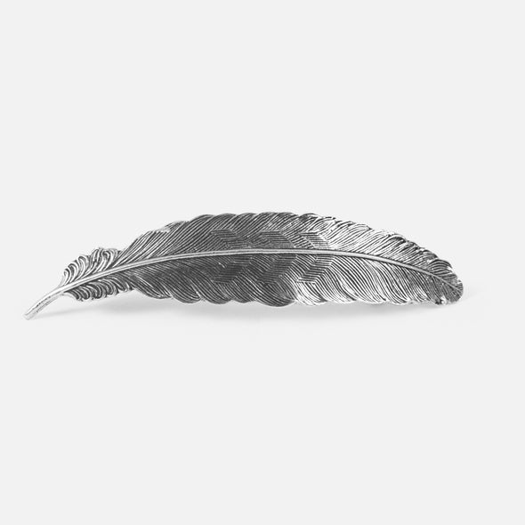 Feather Pewter Barrette