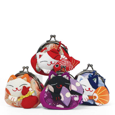 Fortune Cat Coin Purse (Assorted)