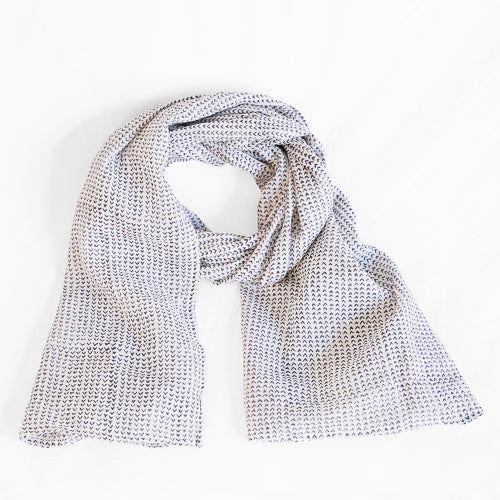 Beckett Navy Scarf