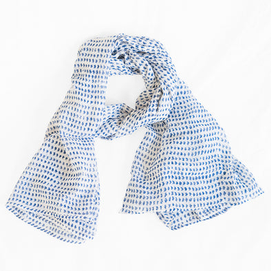 Navy Dot Scarf