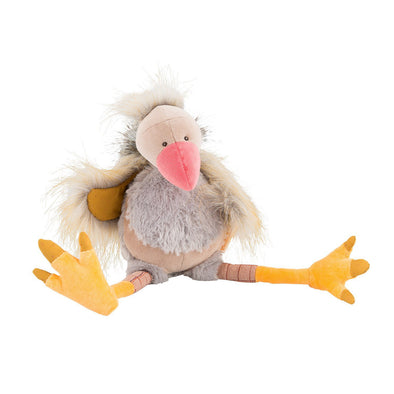 10 inch Non-toxic stuffed toy, Gus the Vulture, from Moulin Roty makes a unique keepsake gift for baby or toddler.