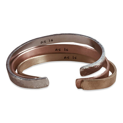 "Hand-Stamped ""As Is"" Cuff Bracelet (3 Colors)"