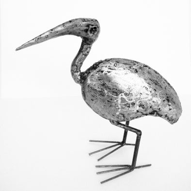 One of a Kind - Kenyan Recycled Metal Ibis Sculptures
