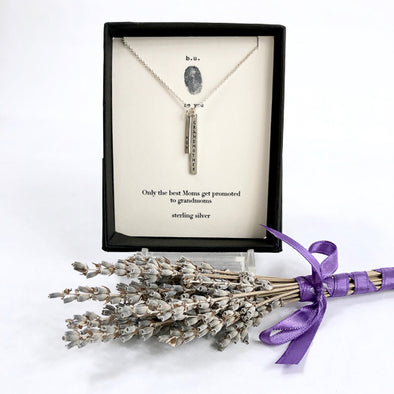 """Only the Best Moms Get Promoted to Grandmothers"" - Sterling Silver Necklace"