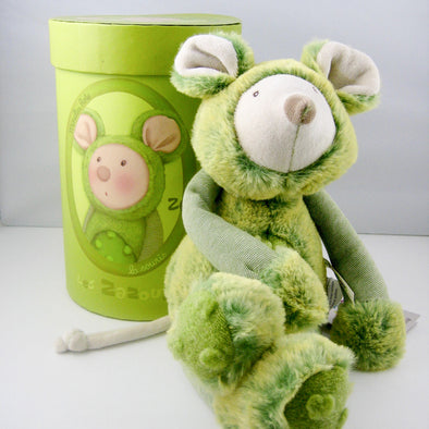 Rare* 13 inch non-toxic stuffed toy Mouse from Moulin Roty would make a unique keepsake gift for baby or toddler. *Discontinued by manufacturer