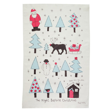 Night Before Christmas Tea Towel