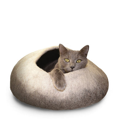 Natural Ombre Felted Wool Cat Cave