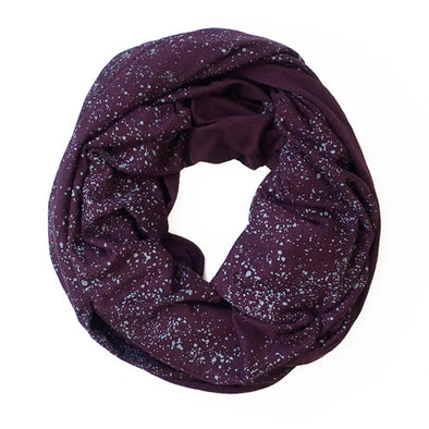 Infinity Scarf - Gray Seaspray on Plum