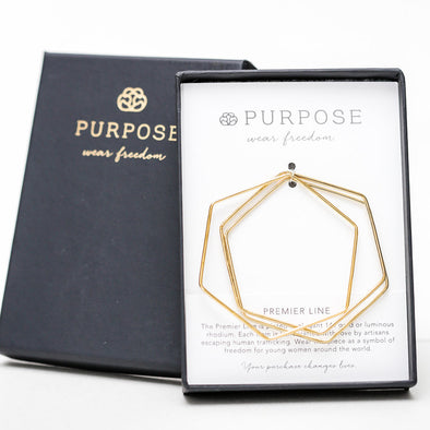 Geo Bangles by Purpose Jewelry