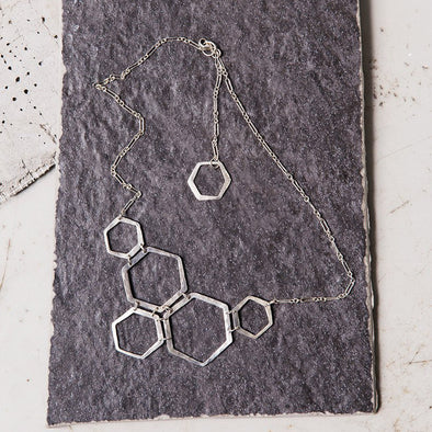 Honeycomb Necklace- Sterling Silver