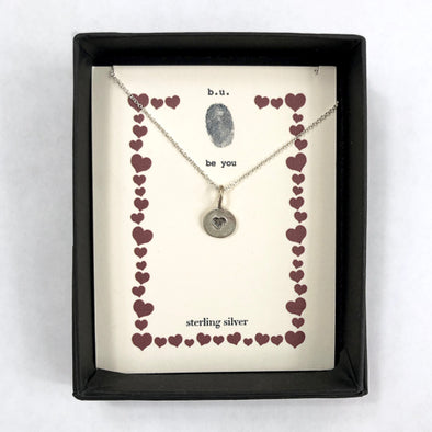 """Sweet Heart Charm"" - Sterling Silver Necklace"