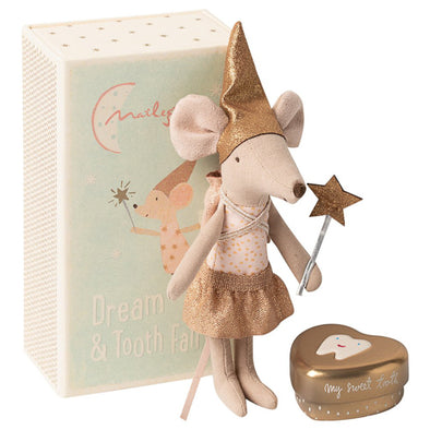 Tooth Fairy Big Sister Mouse w. Tooth Box by Maileg