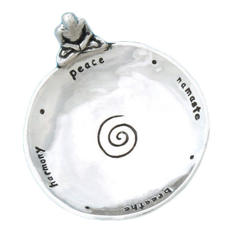 Pewter Yoga Trinket Dish