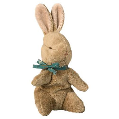 Baby Bunny with Blue Ribbon by Maileg