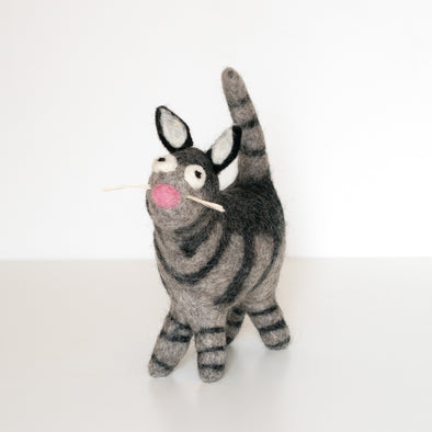 Purrito the Cat Felted Wool Best Buddy - Handcrafted + Fair Trade