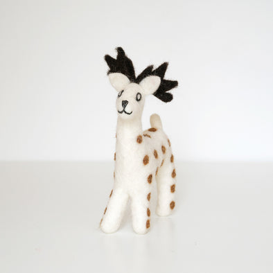 Felted Wool Spotted Deer Decoration
