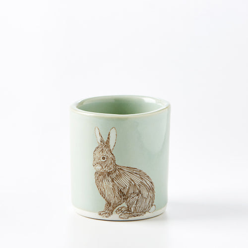 Small Celadon Rabbit Cup