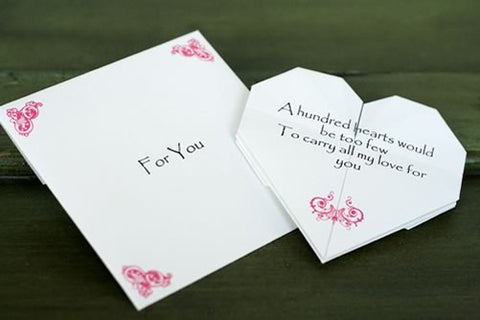 Folded love note