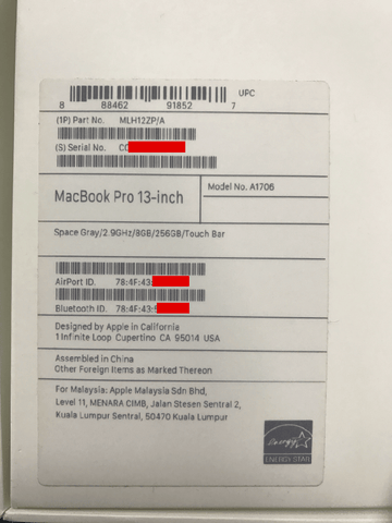 What Is The Serial Number Of My Macbook Pro MacBook Pro Find
