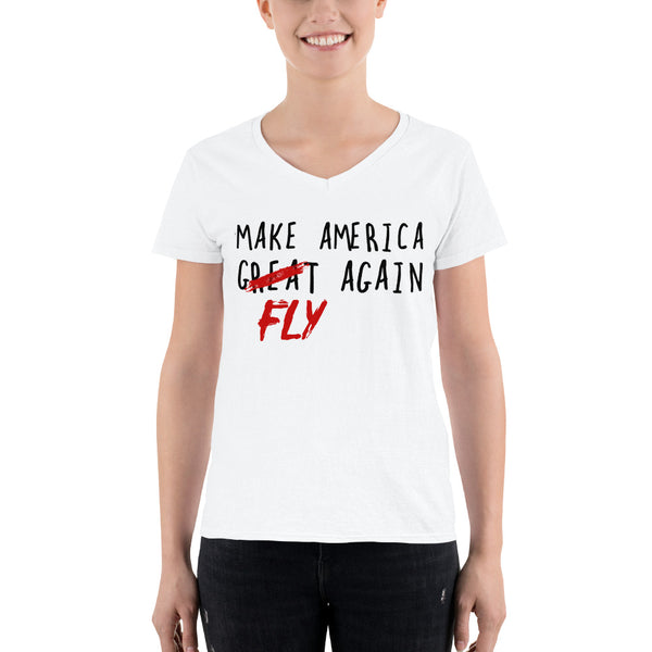 America Fly V-Neck Shirt