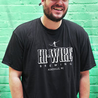 Black Hi-Wire Brewing Logo T-Shirt
