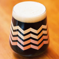 Stemless Teku Glass - Chevron