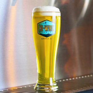 Hi-Wire Lager Gold Rimmed Glass