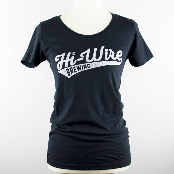 Womens Black Baseball Logo T-Shirt