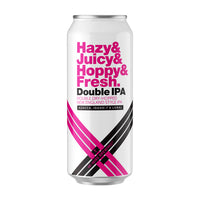 Hazy Juicy Hoppy Fresh DOUBLE IPA w/ Azacca, Idaho 7, & Loral - 4 pack