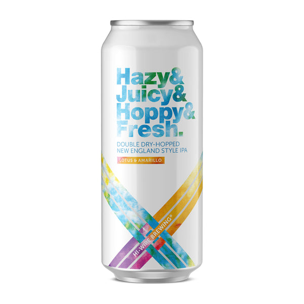 Hazy Juicy Hoppy Fresh IPA w/ Lotus & Amarillo - 4 pack