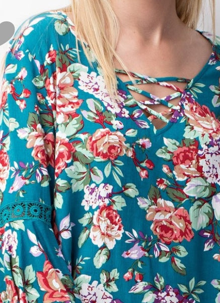 Popular floral Tunic top