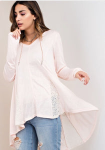 Tunic top with hood