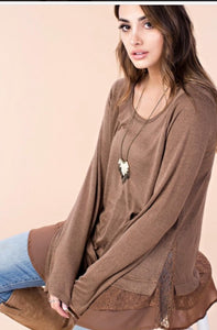 Tunic top with lace
