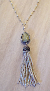 Rutilated Quartz tassel necklace.