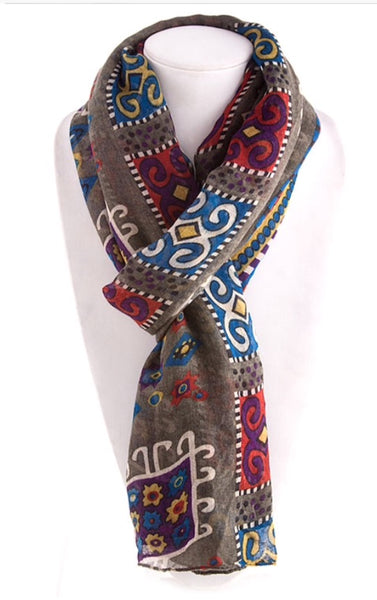 Mosaic tile pattern scarf. Best seller