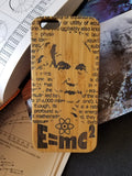 Albert Einstein bamboo wood case for iPhone 6, iPhone 6s, iPhone 6 plus, iPhone 7, iPhone 7 plus, iPhone 8, iPhone 8 plus, iPhone X, XS, XR, XS Max