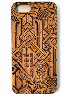 Art Deco bamboo wood iPhone case for iPhone 6, iPhone 6s, iPhone 6 plus, iPhone 7, iPhone 7 plus, iPhone 8, iPhone 8 plus, iPhone X, XS, XR, XS Max