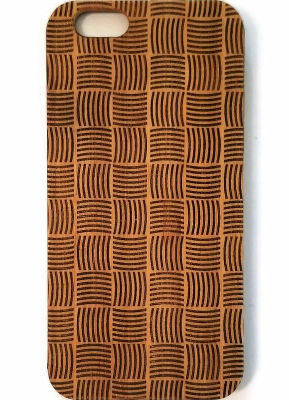 Basket Weave bamboo wood iPhone case for iPhone 6, iPhone 6s, iPhone 6 plus, iPhone 7, iPhone 7 plus, iPhone 8, iPhone 8 plus, iPhone X, XS, XR, XS Max