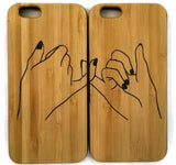 Best Friends bamboo wood cases (pair) for iPhone 6, iPhone 6s, iPhone 6 plus, iPhone 7, iPhone 7 plus, iPhone 8, iPhone 8 plus, iPhone X, XS, XR, XS Max