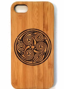 Celtic Triskelon bamboo  iPhone case for iPhone 6, iPhone 6s, iPhone 6 plus, iPhone 7, iPhone 7 plus, iPhone 8, iPhone 8 plus, iPhone X, XS, XR, XS Max