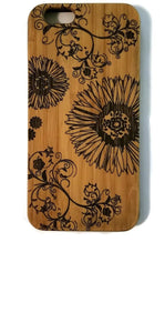 Daisy & Vines bamboo wood iPhone case iPhone 6, iPhone 6s, iPhone 6 plus, iPhone 7, iPhone 7 plus, iPhone 8, iPhone 8 plus, iPhone X, XS, XR, XS Max