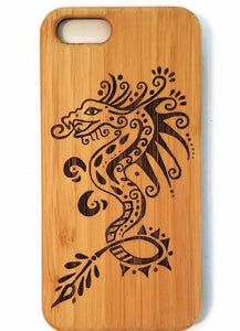 Dragon bamboo wood iPhone case for iPhone 6, iPhone 6s, iPhone 6 plus, iPhone 7, iPhone 7 plus, iPhone 8, iPhone 8 plus, iPhone X, XS, XR, XS Max