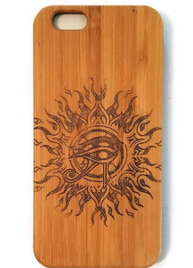 Eye of Horus bamboo wood iPhone case for iPhone 6, iPhone 6s, iPhone 6 plus, iPhone 7, iPhone 7 plus, iPhone 8, iPhone 8 plus, iPhone X, XS, XR, XS Max