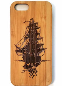 Flying Dutchman bamboo wood iPhone case for iPhone 6, iPhone 6s, iPhone 6 plus, iPhone 7, iPhone 7 plus, iPhone 8, iPhone 8 plus, iPhone X, XS, XR, XS Max