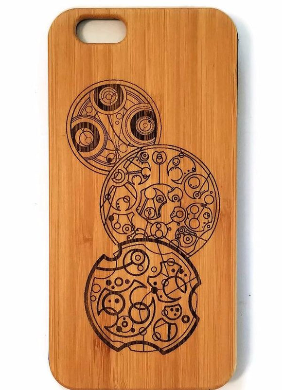 Gallifreyan Symbols bamboo wood iPhone case Doctor Who iPhone 6/6s, iPhone 6 plus, iPhone 7, iPhone 7 plus, iPhone 8, iPhone 8 plus iPhone X, XS, XR, XS Max