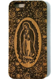 Virgin of Guadalupe bamboo wood iPhone case iPhone 6, iPhone 6s, iPhone 6 plus, iPhone 7, iPhone 7 plus, iPhone 8, iPhone 8 plus, iPhone X, XS, XR, XS Max