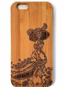 Jose Posada Day of the Dead bamboo wood iPhone case iPhone 6 iPhone 6s iPhone 6 plus iPhone 7 iPhone 7 plus iPhone 8 iPhone 8 plus, iPhone X, XS, XR, XS Max