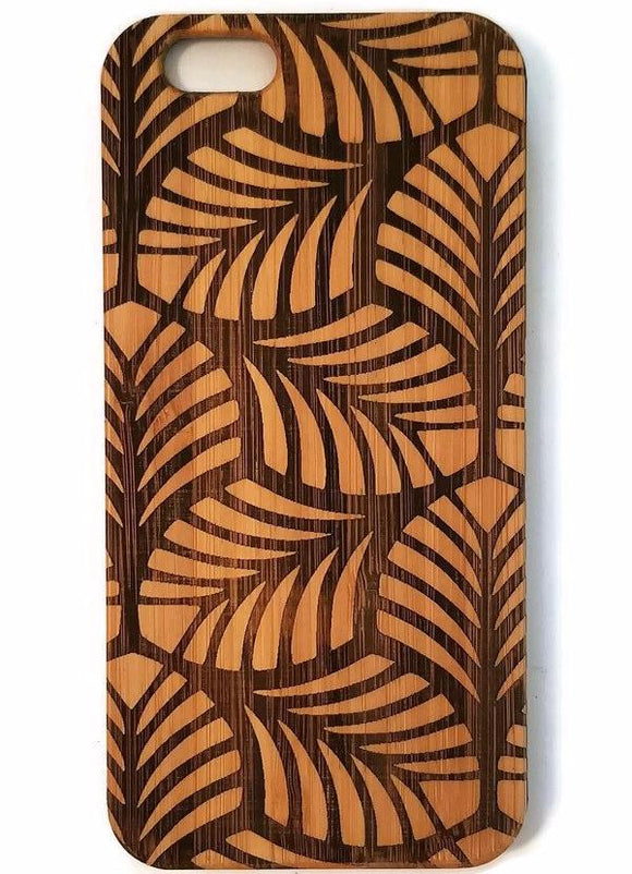 Leaves Tessilation bamboo wood iPhone case iPhone 6, iPhone 6s, iPhone 6 plus, iPhone 7, iPhone 7 plus, iPhone 8, iPhone 8 plus, iPhone X, XS, XR, XS Max