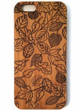 Leaf Collage bamboo wood iPhone case for iPhone 6, iPhone 6s, iPhone 6 plus, iPhone 7, iPhone 7 plus, iPhone 8, iPhone 8 plus, iPhone X, XS, XR, XS Max